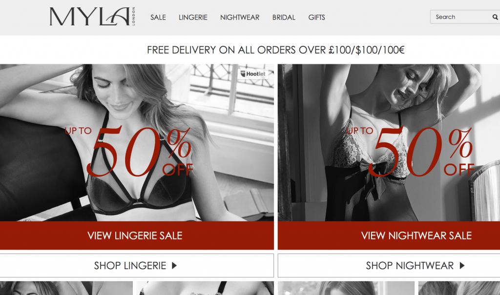 Myla lingerie sale