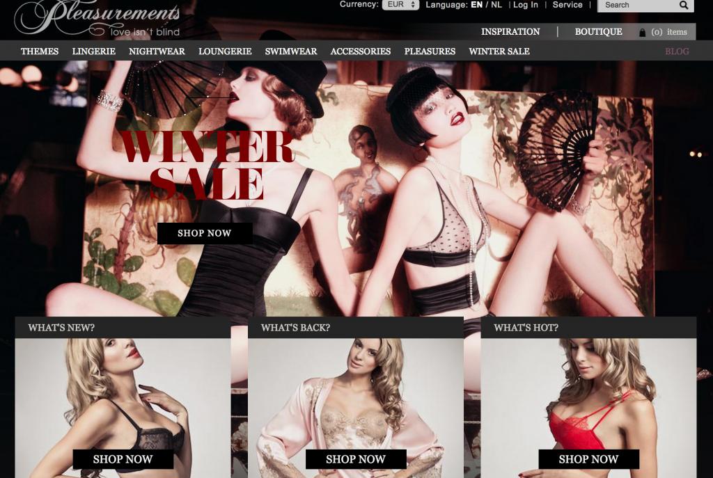 pleasurements lingerie winter sale