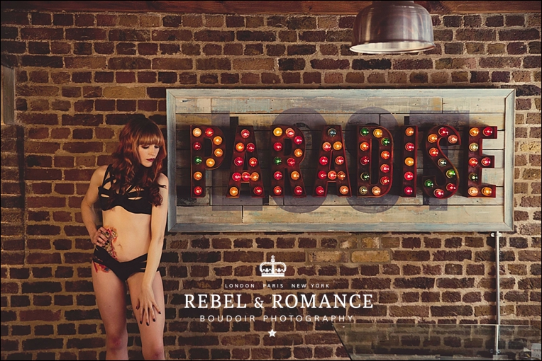 Paradise Lost: an edgy boudoir photography shoot in Little Italy, London