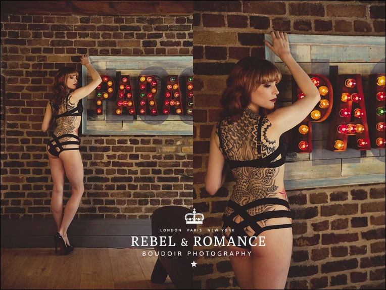 agent provocateur tattoo paradise lost boudoir photography london redhead edgy