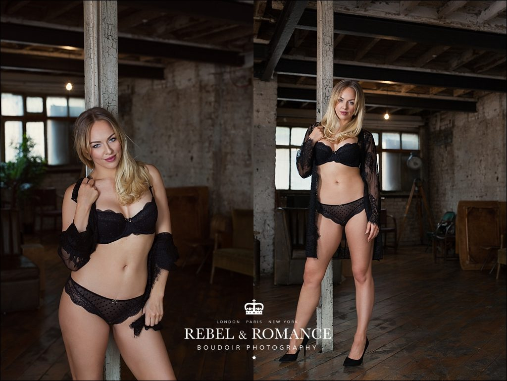 lingerie photography in london warehouse