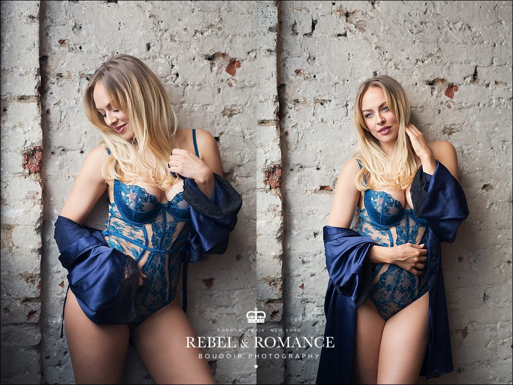 navy silk lingerie photograph