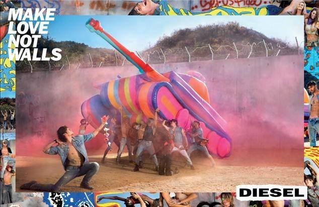 Visual Inspiration: Diesel SS17, Make Love Not Walls