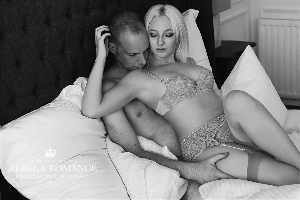 couples boudoir photo shoot