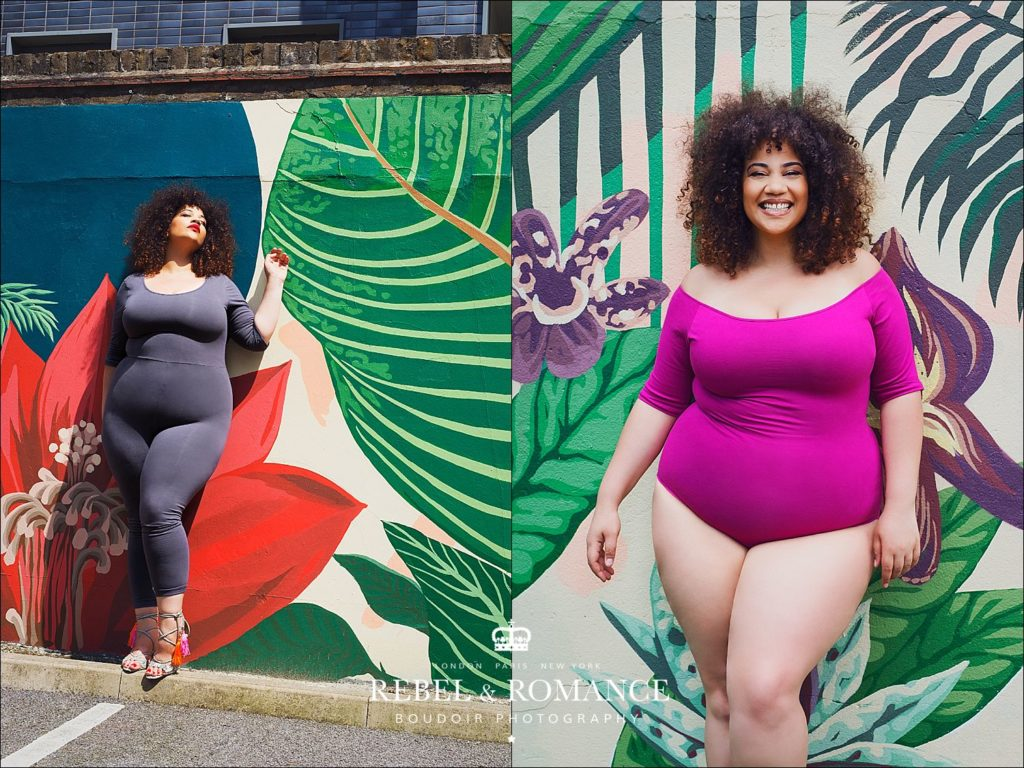 plus size photography session in london