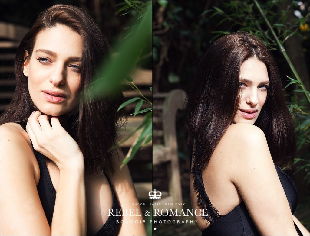 model portfolio headshots in rainforest setting