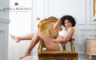 Veils and summer lingerie at Celine's boudoir photo shoot: PART ONE