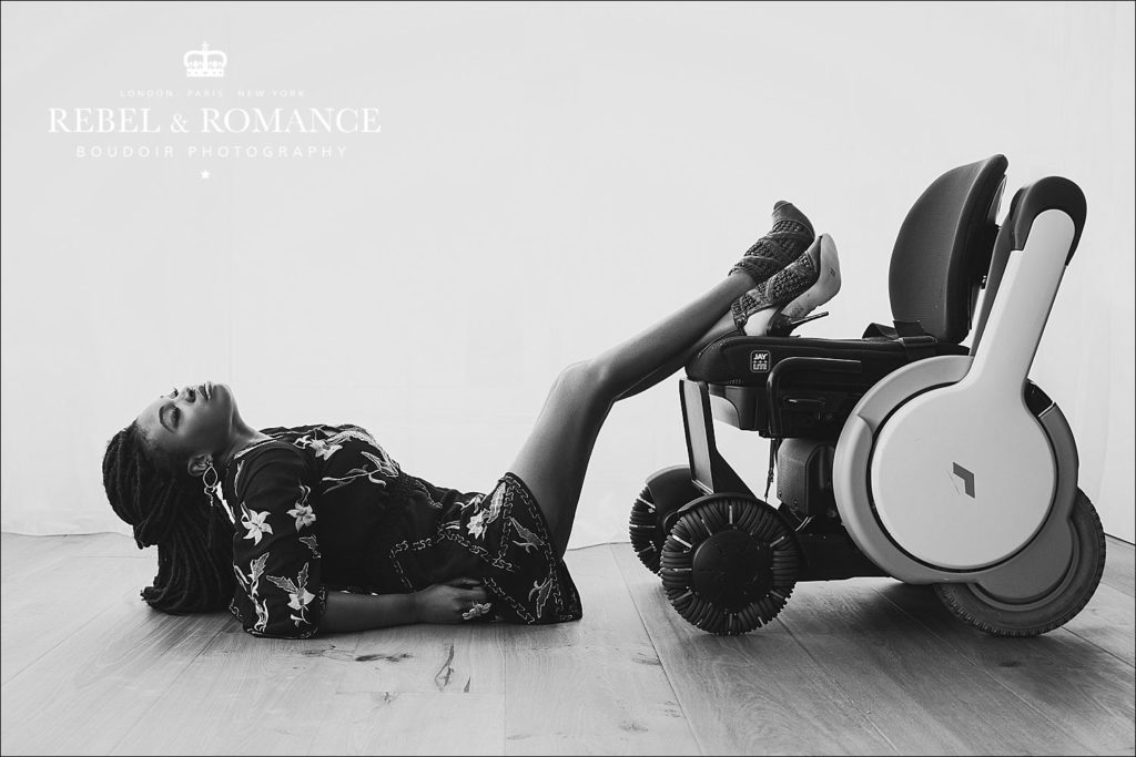 boudoir photography for wheelchair users london